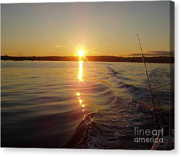 Canvas Print featuring the photograph Early Morning Fishing by John Telfer