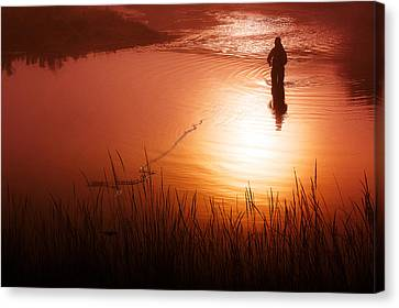 Early Morning Fishing Canvas Print