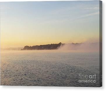 Early Morning Fog Rolling In Canvas Print by John Telfer