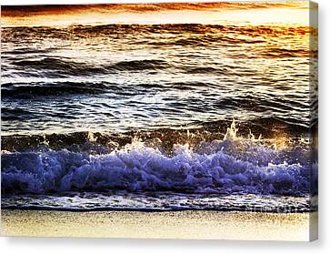 Early Morning Frothy Waves Canvas Print