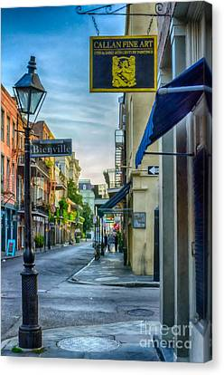 Early Morning In French Quarter Nola Canvas Print by Kathleen K Parker