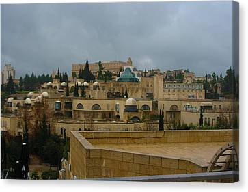 Canvas Print featuring the photograph Early Morning In Jerusalem by Doc Braham