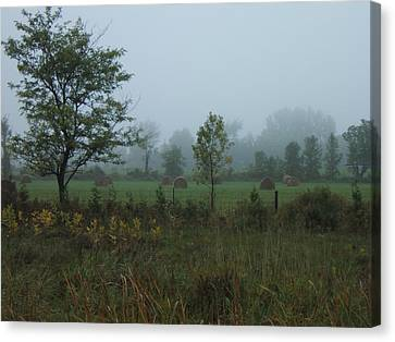 Early Morning In The Country Canvas Print by Margaret McDermott