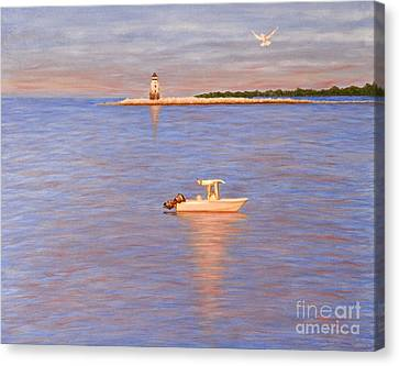 Canvas Print featuring the painting Early Morning Light by Cindy Lee Longhini