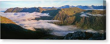Early Morning Light On Mountains Canvas Print by Panoramic Images