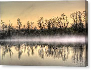 Canvas Print featuring the photograph Early Morning Mist by Lynn Geoffroy