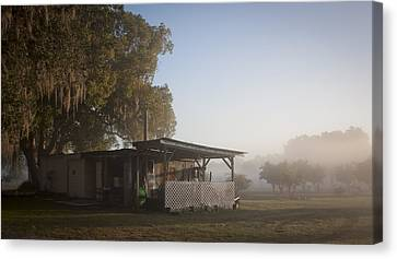 Canvas Print featuring the photograph Early Morning On The Farm by Lynn Palmer