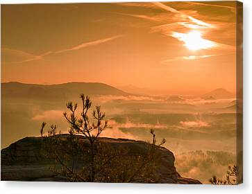 Early Morning On The Lilienstein Canvas Print