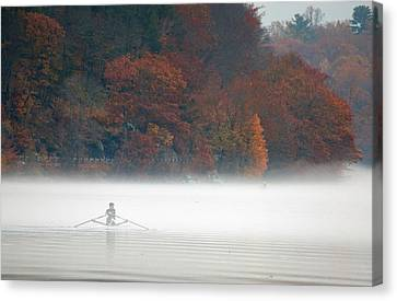 Early Morning Row Canvas Print by Karol Livote