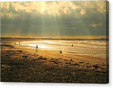 Early Morning Second  Beach Newport Canvas Print