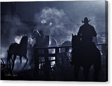 Early Morning Smoke Canvas Print