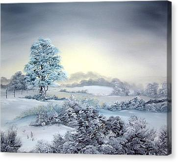 Early Morning Snows Canvas Print