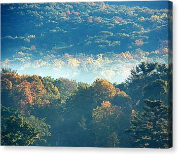 Canvas Print featuring the photograph Early Morning by Steven Huszar