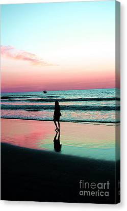 Early Morning Stroll Canvas Print by Dan Stone
