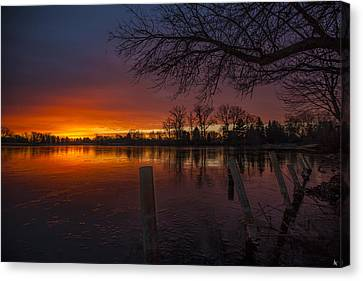 Canvas Print featuring the photograph Early Morning Sunrise by Nicholas  Grunas