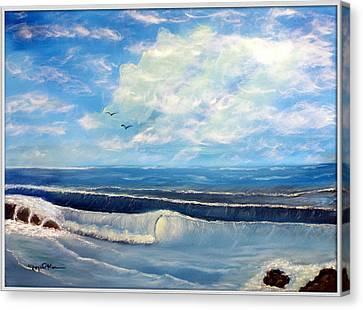 Early Morning Surf Canvas Print by Joyce Krenson