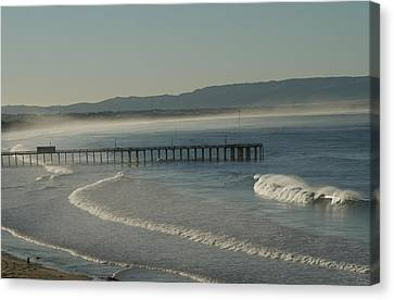 Early Morning Surf Pismo Beach Canvas Print