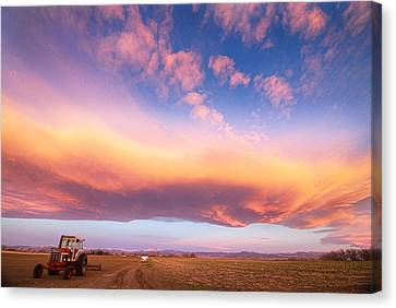 Early Morning Turbo Country Sky Canvas Print by James BO  Insogna