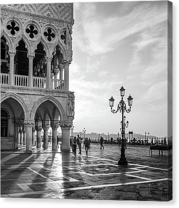 Chandelier Canvas Print - Early Morning - Venice by Nigel Snape