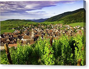 Rhin Canvas Print - Early Morning View Over Riquewihr by Brian Jannsen