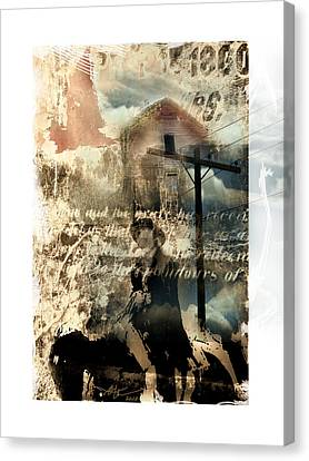 Early Settlers  Canvas Print by Bob Salo