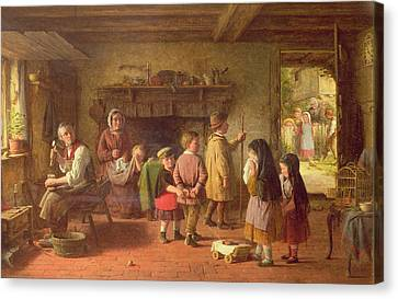 Early Sorrow Canvas Print by Frederick Daniel Hardy