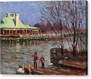 Early Spring In Portcredit Mississauga Canvas Print by Ylli Haruni