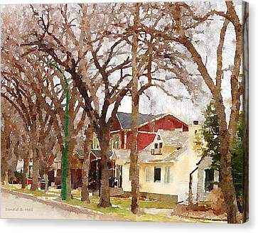Early Spring Street Canvas Print by Donald S Hall