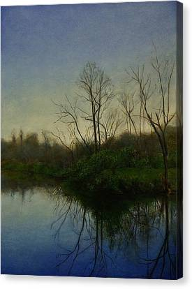 Canvas Print featuring the painting Early Spring by Wayne Daniels