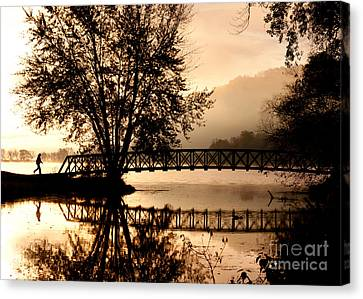 Canvas Print featuring the photograph Early Start by Kari Yearous