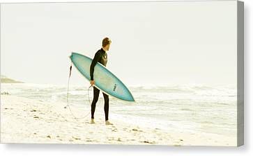 Early Surf Canvas Print by Lindy Brown