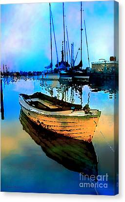 Early Tide Canvas Print by Barbara D Richards