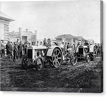 Early Tractors, Russia Canvas Print by Science Photo Library