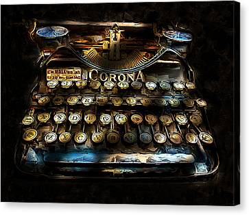 Early Word Processor Canvas Print by Cary Shapiro