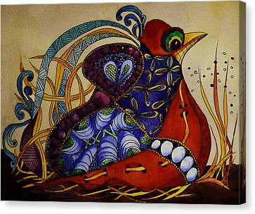 Early Worm Gets The Bird Canvas Print