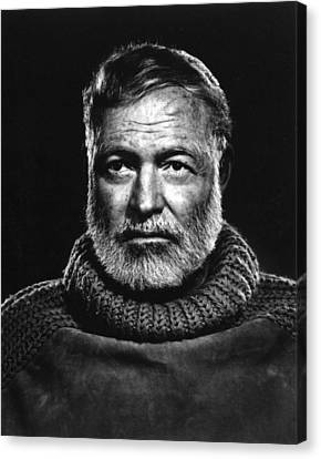 Earnest Hemingway Close Up Canvas Print by Retro Images Archive
