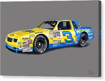 Earnhardt '86 Canvas Print by Charley Pallos