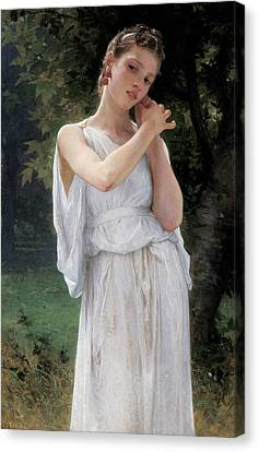 Standing Canvas Print - Earrings by William Adolphe Bouguereau