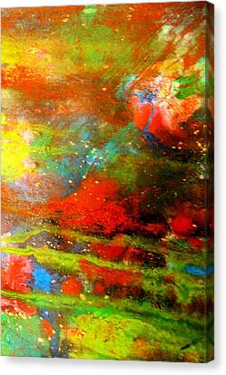 Earth And Sky Abstract Canvas Print by Carolyn Repka
