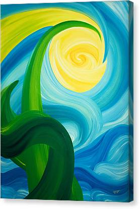 Canvas Print featuring the painting Earth And Sky Meet by Ginny Gaura