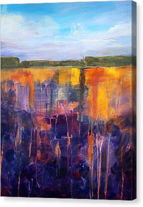 Earth And Sky Canvas Print by Nancy Merkle