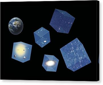 Earth And Space, Conceptual Artwork Canvas Print by Science Photo Library