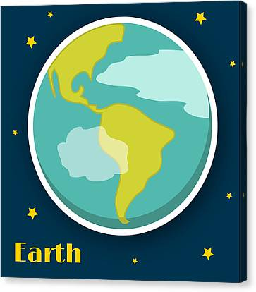 Science Fiction Canvas Print - Earth by Christy Beckwith