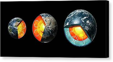 Earth Compared To Exoplanets Canvas Print by Mikkel Juul Jensen