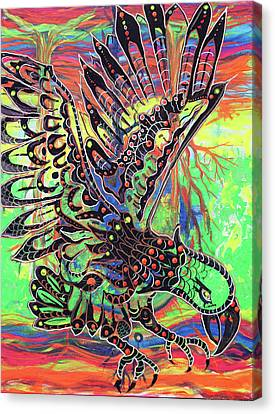 Earth Eagle Canvas Print by Lorinda Fore and Tony Lima