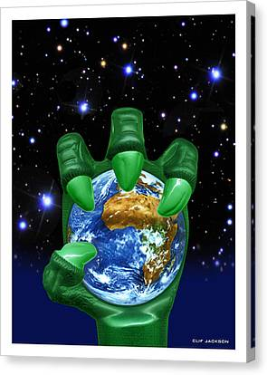 Earth Enslaved Canvas Print by Clif Jackson