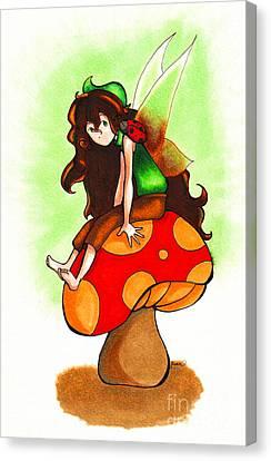 Earth Fairy Canvas Print by Shenn