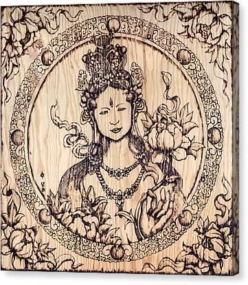 Earth Goddess Canvas Print by Nozomi Takeyabu