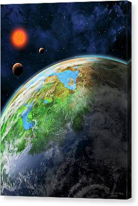 Gliese Canvas Print - Earth-like Alien Planet by Nicolle R. Fuller