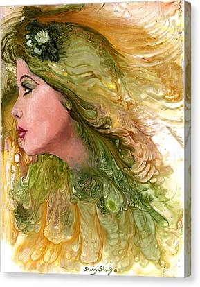 Earth Maiden Canvas Print by Sherry Shipley